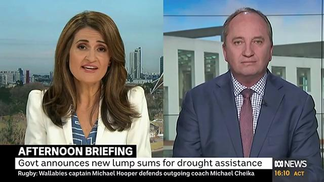 """""""Youll wait forever before the Nationals spill a leader. They dont do that. It doesnt happen. Bridget (McKenzie) has my support,"""" @Barnaby_Joyce tells @PatsKarvelas"""