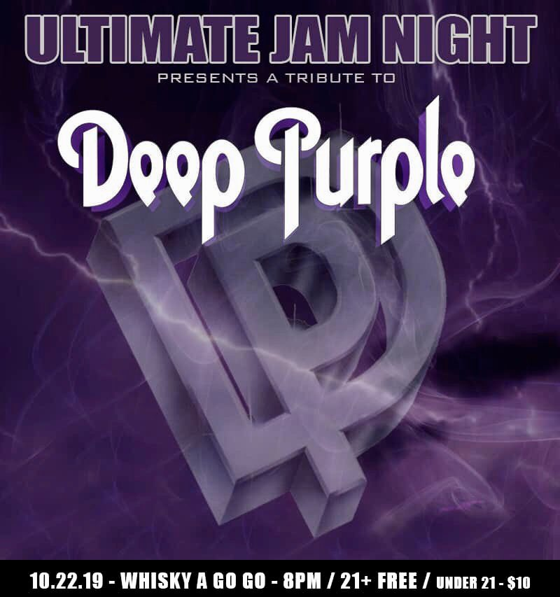ULTIMATE JAM NIGHT! A tribute to the mighty DEEP PURPLE!   LiveStream from Whisky A Go-Go TUESDAY OCTOBER 22nd ET! Download the app https://t.co/SIU9108uG4 #deeppurple #livestream #whiskyagogo #Hollywood https://t.co/OTP7skXehq
