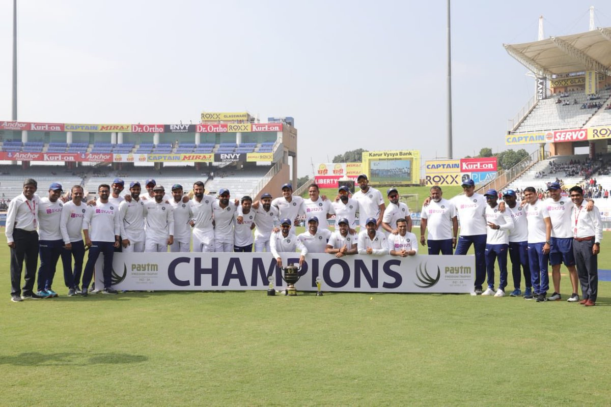 Excellent bunch of people to be with. Congratulations on an outstanding series win. Enjoy the moment #TeamIndia #INDvsSA<br>http://pic.twitter.com/6KhvQZvyKe