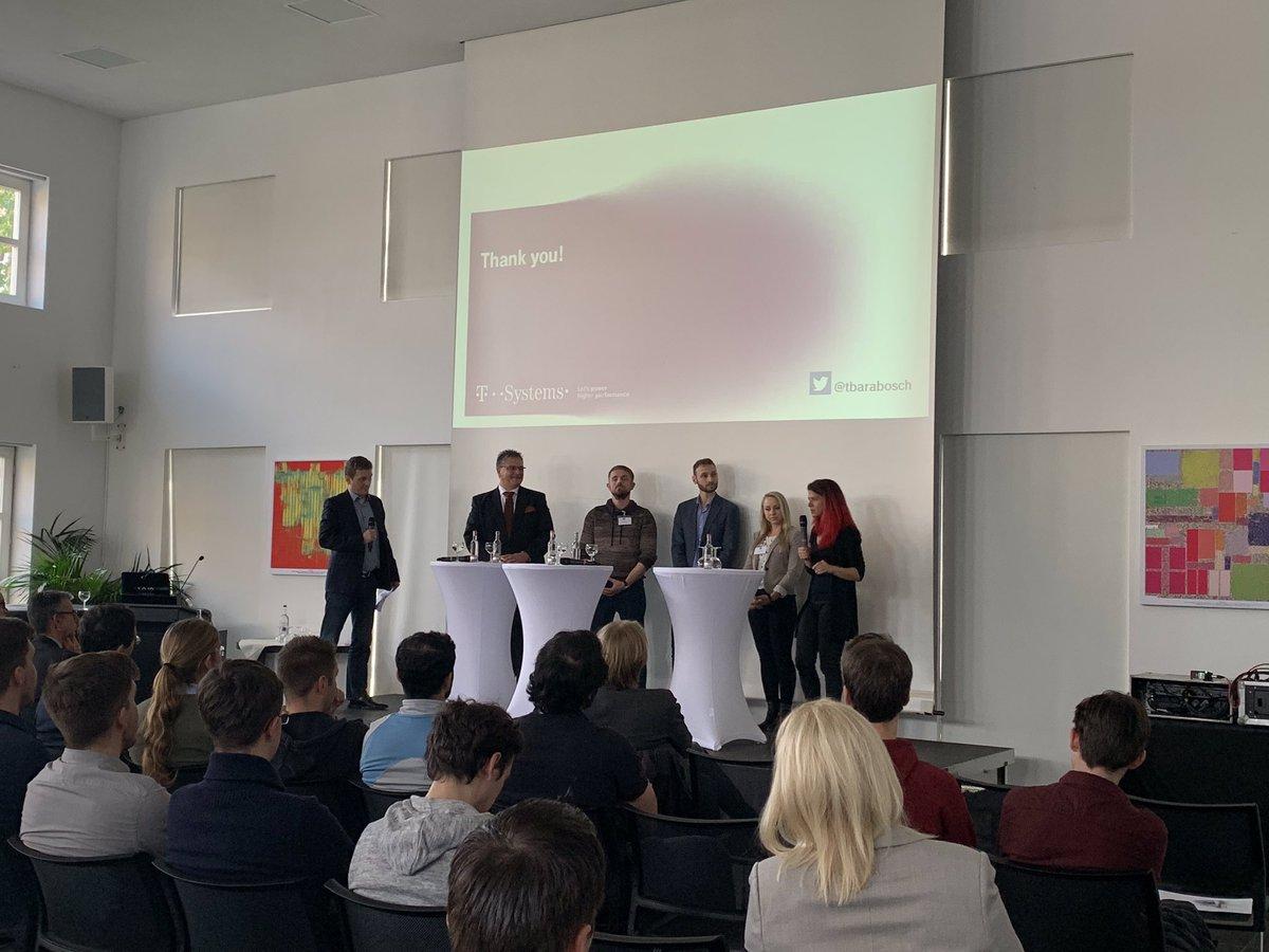 Social Media Post: ++ Cyber Security Studiengang @UniBonn ++ Während der Panel...