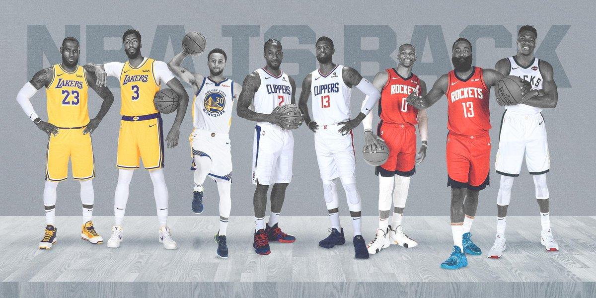 Season 74. NBA basketball finally returns today 🙌