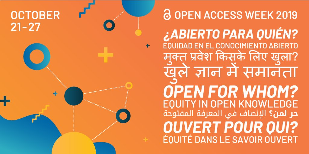 test Twitter Media - Celebrating International Open Access Week #OAWeek19  with all our grantees and partners who work to make #openaccess a new norm in scholarship and research. Get involved and join one the hundreds of events: https://t.co/NmBs9m6pCt https://t.co/SQPzsqzi5x