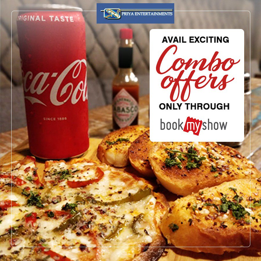 """""""Relish Special Combo Offers from BG express while watching your favourite movies!  Avail this offer exclusively through 'Book My Show' while booking your movie tickets!""""  .  .  .  #BookMyShow #PriyaCinema #Kolkatapic.twitter.com/2c4GwbpMJQ"""