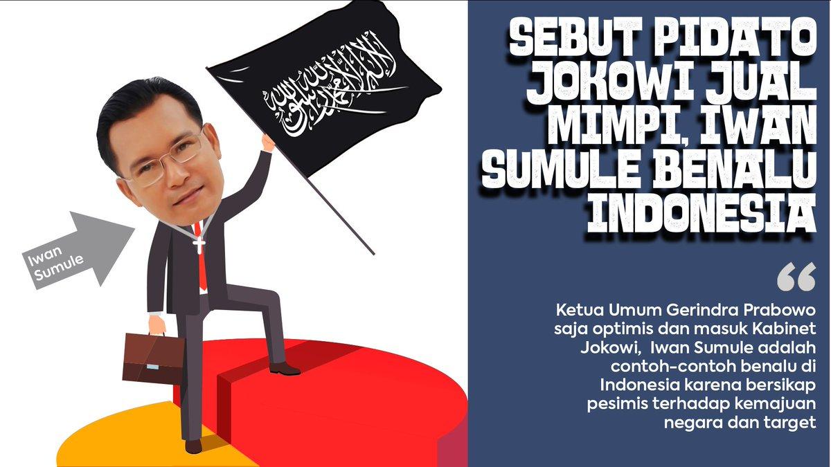 di Indonesia hanya sibuk dengan kritik yang tidak membangun tanpa solusi  #PenumpangGelap #IwanSumulepic.twitter.com/DWMMx7qaZ6