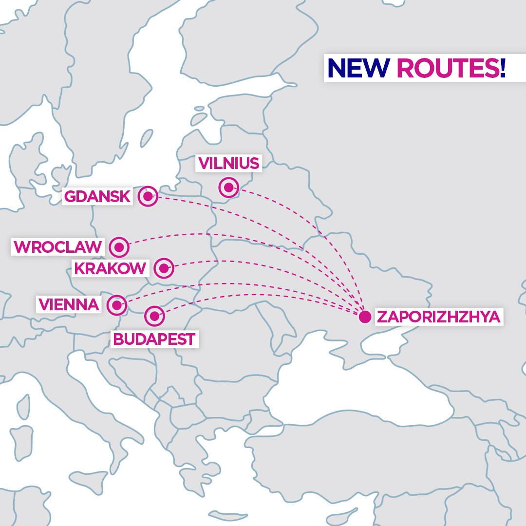 Wizz Air On Twitter Dear Ukrainian Travellers We Re Glad To Announce That Starting From March 2020 A New Service Will Operate Twice A Week Connecting Zaporizhzhya With Vienna In Austria Budapest In