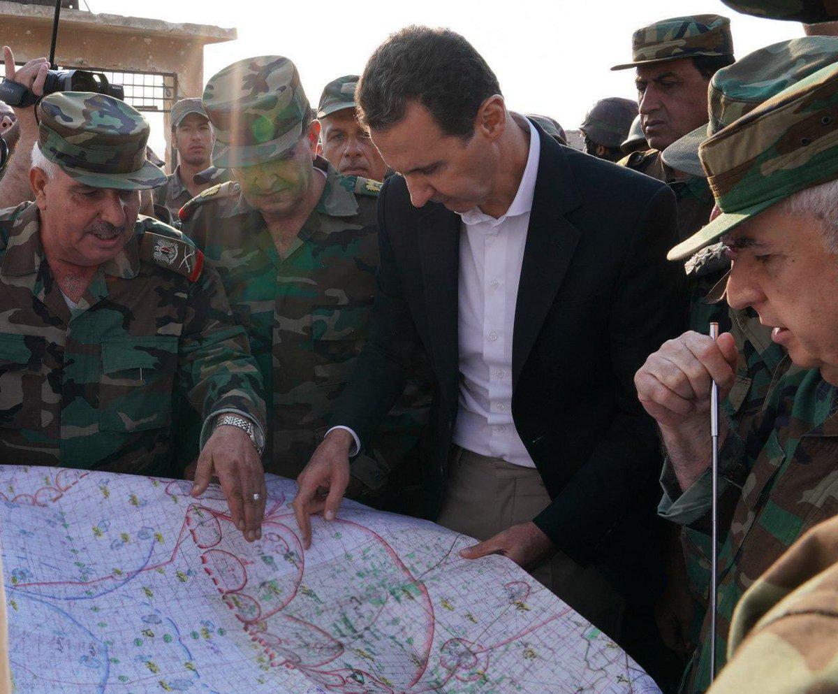 Асад на фронте в Идлибе