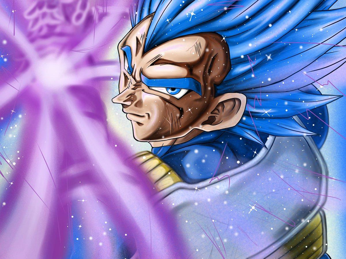 #ドラゴンボール #描いてみた #絵描きさんと繋がりたい #ベジータ #イラスト 創拡超サイヤ人ブルー進化ベジータを描いてみました。よければいいね、RTお願いします!