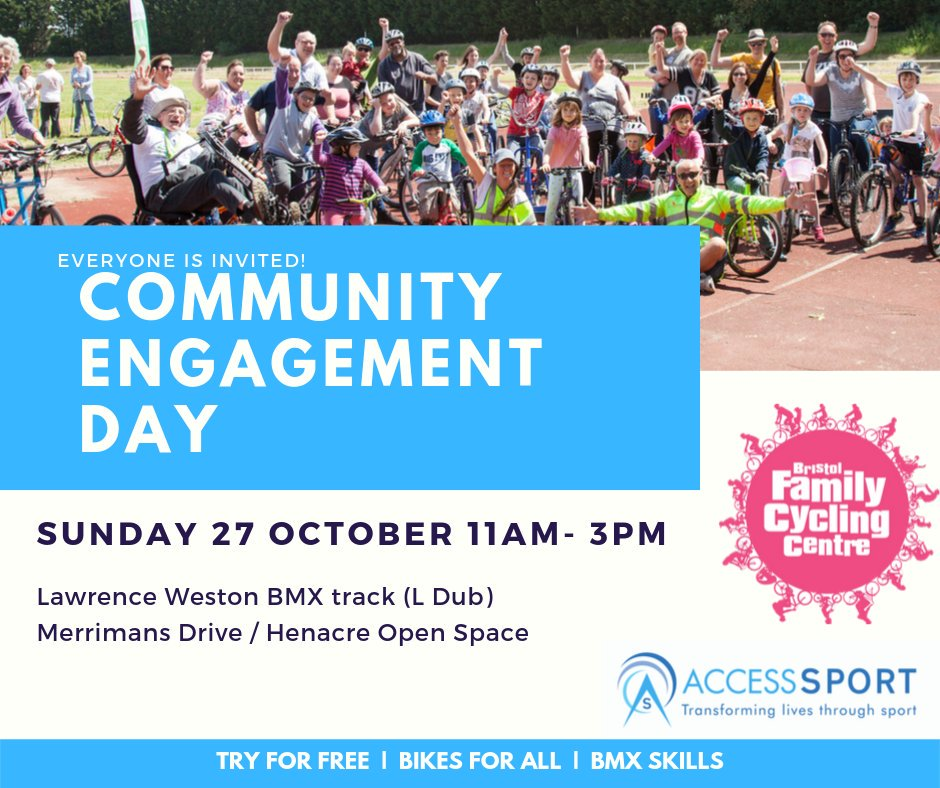 test Twitter Media - Come enjoy a fun family day out of free cycling and BMX activities with @BFCyclingCentre at L-Dub, Lawrence Weston BMX track, this Sunday 27 October 11am-3pm. #cycling #BMX #inclusivecycling https://t.co/EwDIIRkBdy