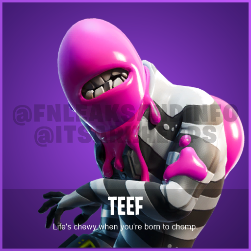 NAME: Teef DESCRIPTION: Life's chewy when you're born to chomp. ID: CID_584_Athena_Commando_M_Nosh RARITY: Epic TYPE: Character SET: GardenBones SOURCE: ItemShop  #Fortnite <br>http://pic.twitter.com/LNVrO0yY8a