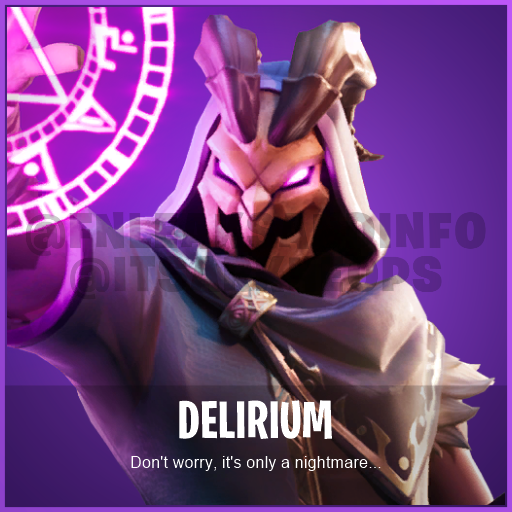 NAME: Delirium DESCRIPTION: Don't worry, it's only a nightmare... ID: CID_588_Athena_Commando_M_GoatRobe RARITY: Epic TYPE: Character SET: Witch SOURCE: ItemShop  #Fortnite <br>http://pic.twitter.com/LsJg75uFd4