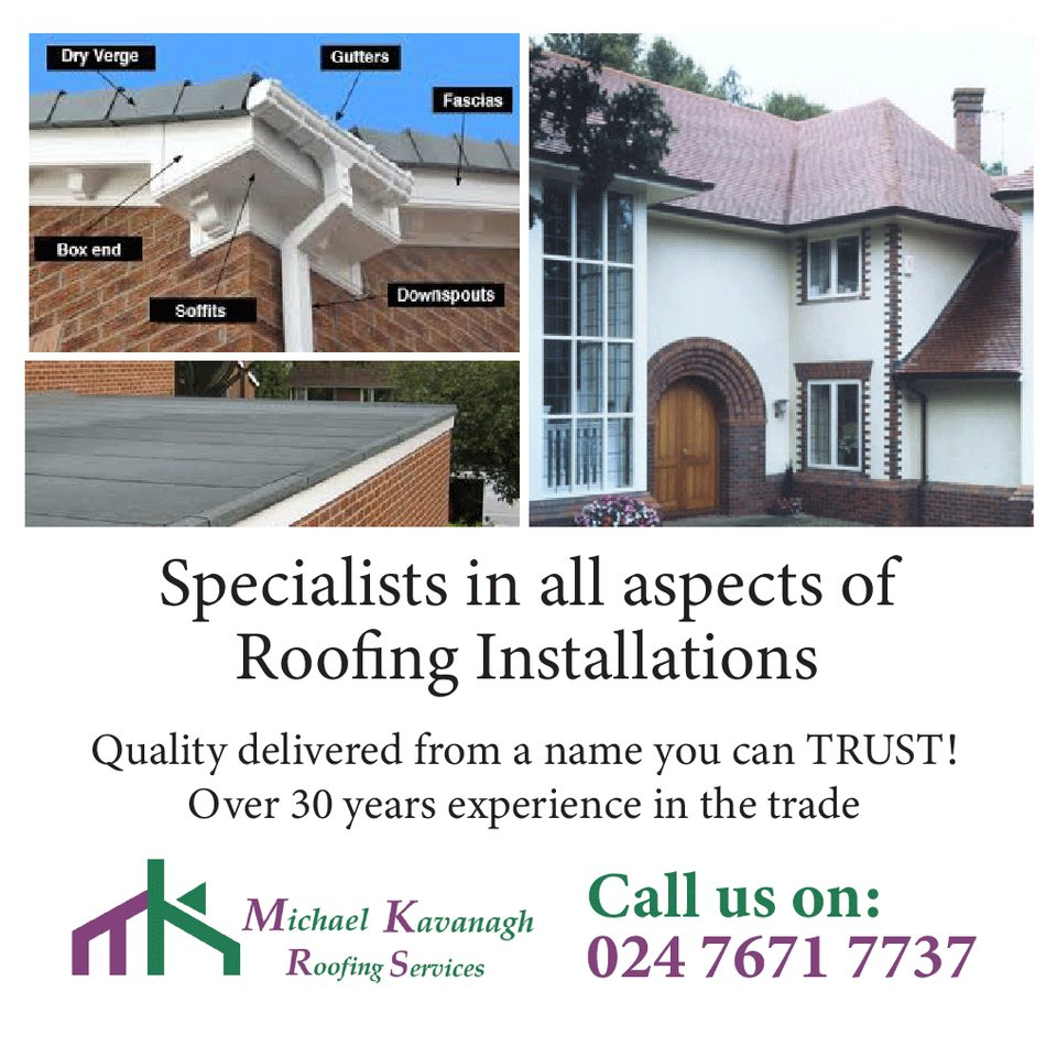 Need quality home improvements? Then give Michael Kavanagh Building & Roofing Services a call. Read more here: ow.ly/z1tu50wQ88h @roof_kavanagh #covhour #solihullhour #NuneatonHour #roofrepairs #newroof #coventry #kenilworth #leamingtonspa #solihull #warwickshire