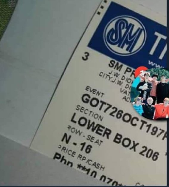 Hi! I'm selling a Lowerbox 206, N16 ticket for Php 10,500. My friend suddenly couldn't go due to personal reasons and she really camped for that ticket. :(  DM me if you're interested!  #KeepSpinningInManila #KeepSpinningTourInManila #GOT7  #GOT7_COMEBACK<br>http://pic.twitter.com/n671xk05to