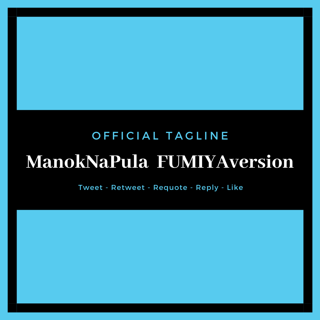 [TWITTER PARTY]  Fumiya will sing Manok na Pula if our tag will trend at Top 5 spot up.  KAYA FRESH TWEETS AND RT ALL TWEETS WITH OUR TAG PLS!!  Official tagline: ManokNaPula FUMIYAversion  Thank you! Happy tweeting!!<br>http://pic.twitter.com/yqb0t9ONLe