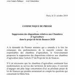 Image for the Tweet beginning: Le Gouvernement a entendu les
