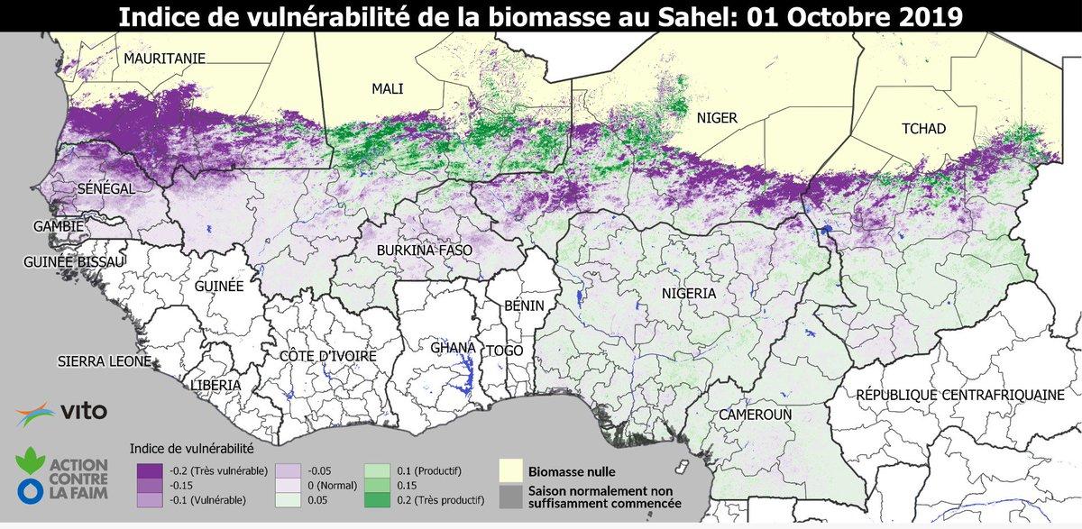 Le rapport de biomasse 2019 au Sahel est sorti! La situation inquiétante prévue au Sénégal et en Mauritanie est confirmée. --- 2019 biomass report for the Sahel is out! The worrisome situation foreseen for Senegal and Mauritania has been confirmed. sigsahel.info/index.php/2019…