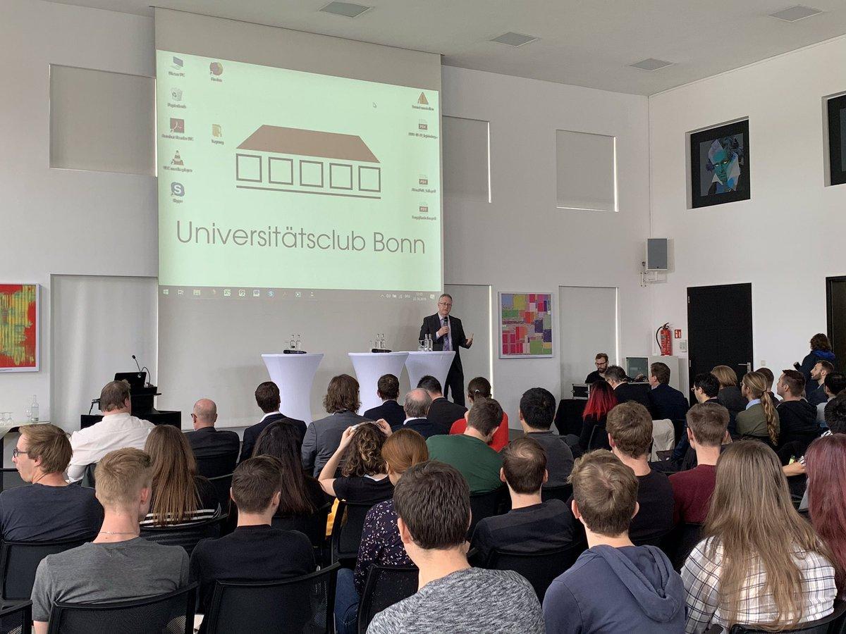 Social Media Post: ++ Cyber Security Studiengang @UniBonn ++ Wir sind heute bei der...