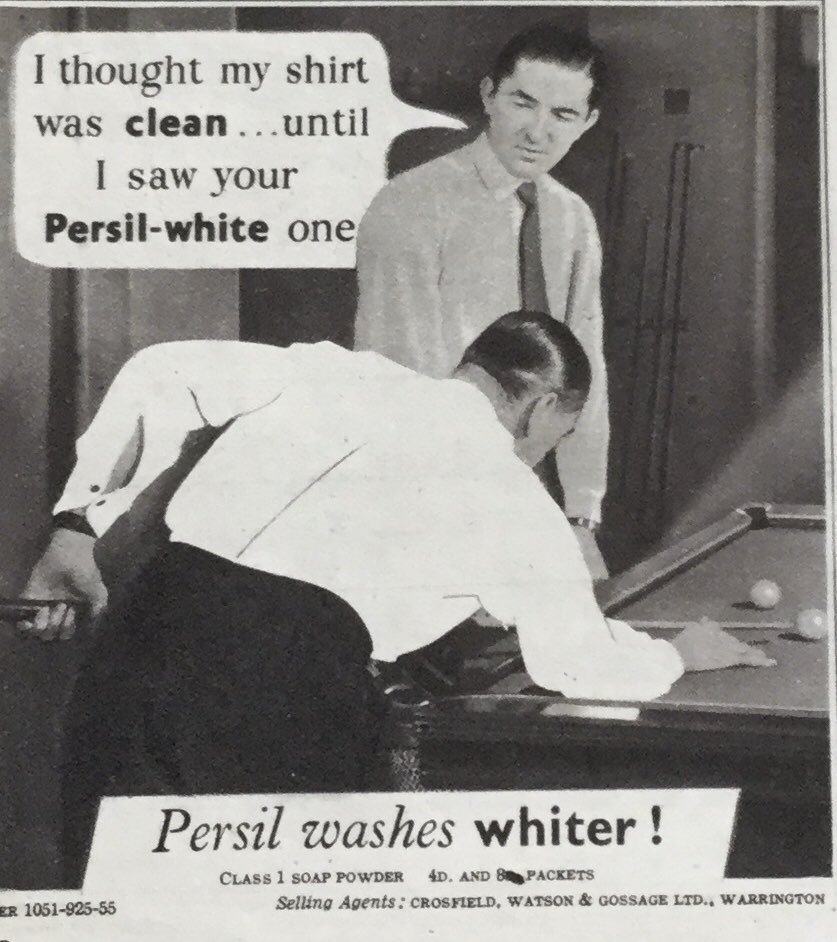 #WednesdayThoughts Think this soap powder ad from 1946 could well be first use of Photoshop.