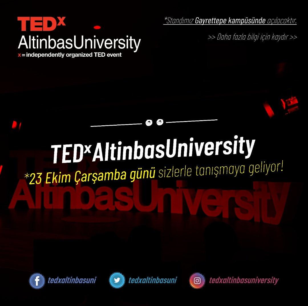 #TEDxAltinbasUniversity  23 Ekim Çarşamba günü Gayrettepe kampüsündeki standında sizleri bekliyor olacak!💃