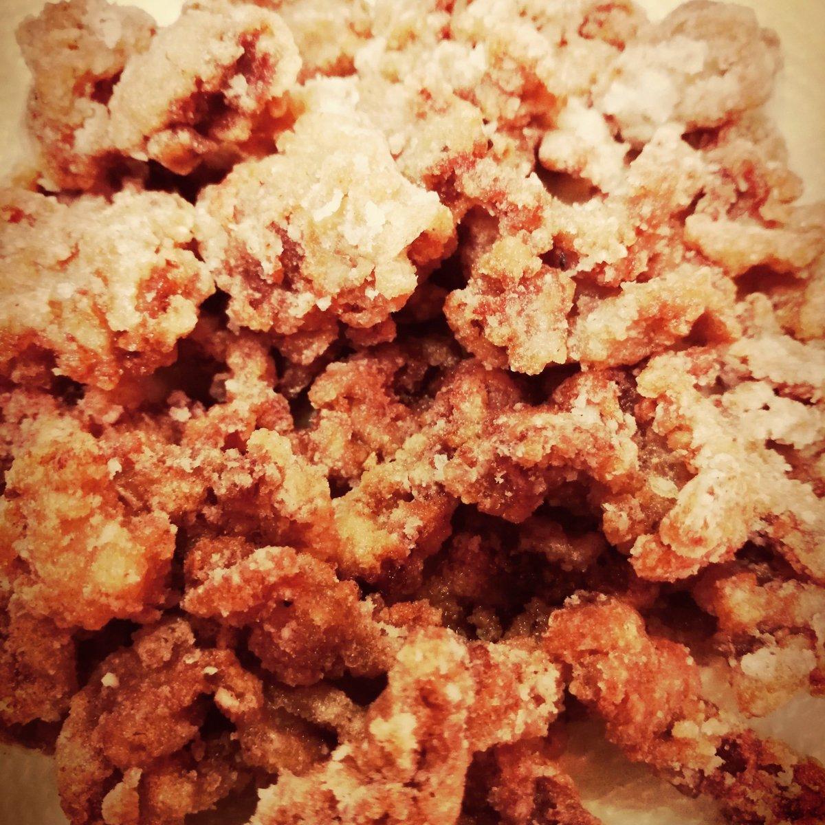 豚バラのカリカリ揚げ カレー風味 作った。揚げながらつまむの最高すぎる