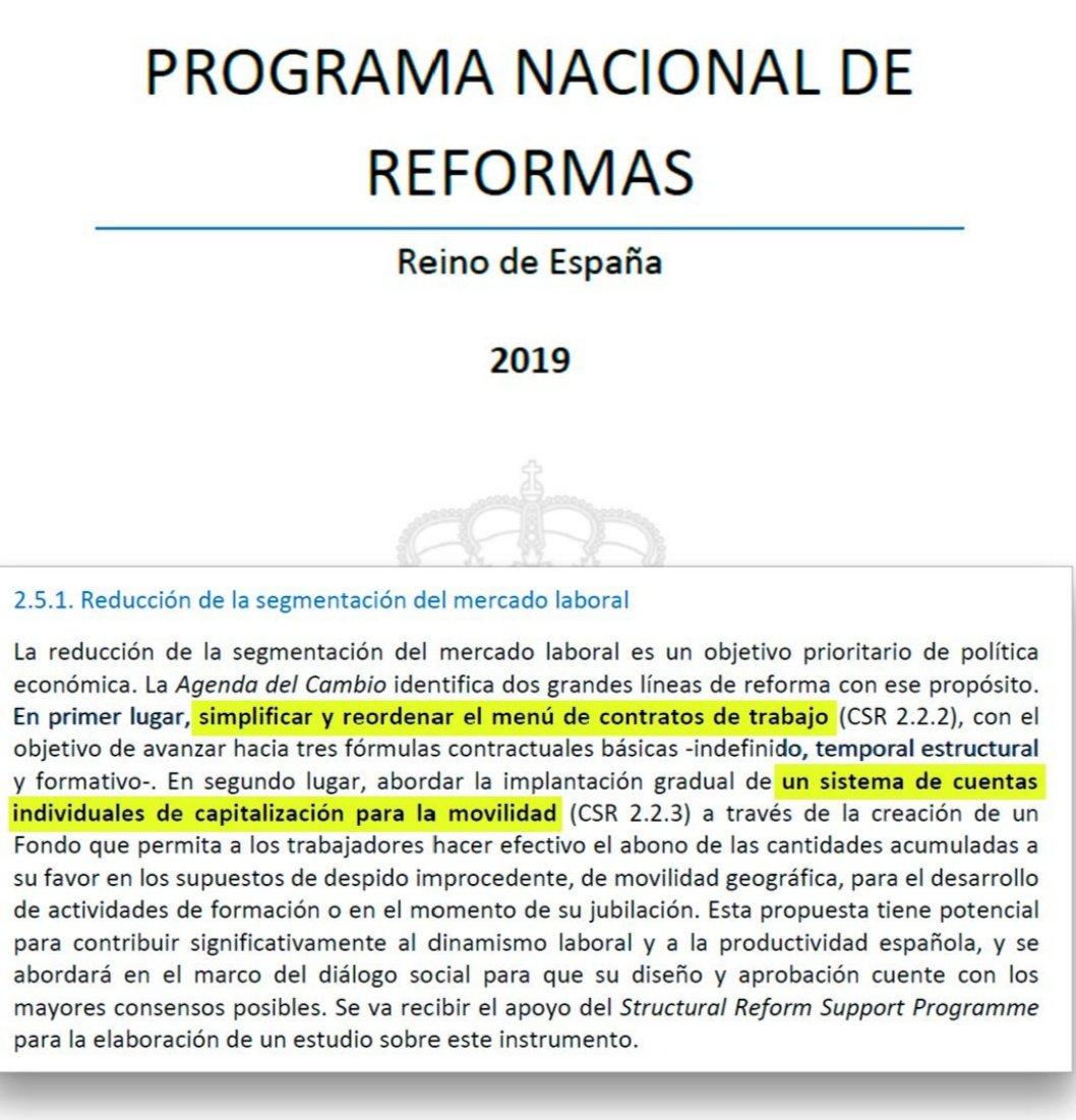 Pedro @sanchezcastejon no sólo no derogó las #ReformasLaborales anteriores -ni la del #PP, ni la del @psoe- sino que además pretende #ElDespidoGratis. ¿Sabes qué nos ocultan #Sánchez y #Calviño ante la  próxima #RecesiónEconómica?  Míralo aquí:  https://www.youtube.com/watch?v=mnhaW2nSm48&feature=youtu.be…pic.twitter.com/w7JfCf2oqt