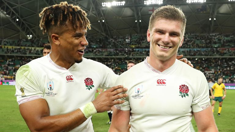 test Twitter Media - 🗣️ 'All Blacks bleed like we do' 🏉  England 🏴 pair Owen Farrell and Anthony Watson spoke exclusively to Sky Sports ahead of their World Cup 🏆 semi-final clash with Zealand 🇳🇿  ✍️👉 Feature here: https://t.co/WY8IpgvmwM https://t.co/BtMlu9NMvg