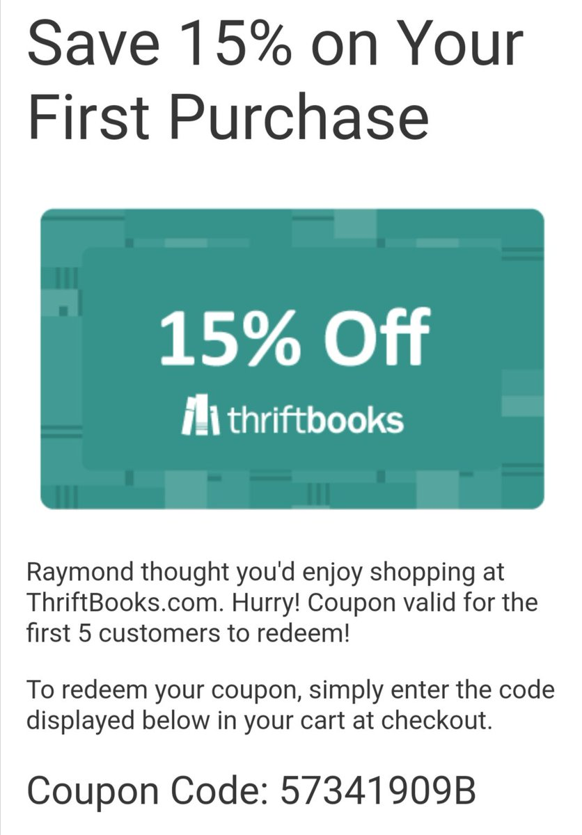 Thriftbookscoupon Hashtag On Twitter