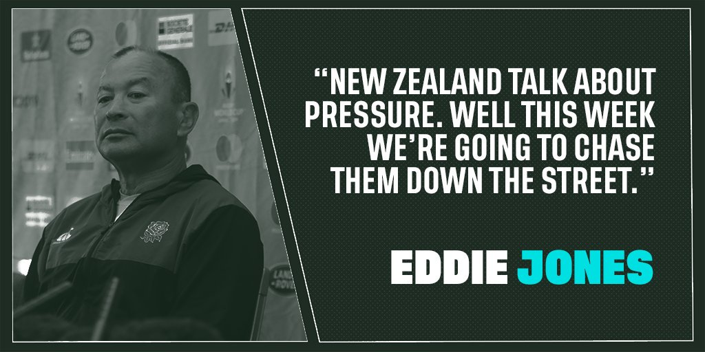 test Twitter Media - Pressure?   It's all on New Zealand, according to Eddie...  Here's what the England head coach had to say at a lively press conference in Tokyo today: https://t.co/SX1gpBSKet   #ENGvNZL #CarryThemHome https://t.co/FUcMnDWdq3