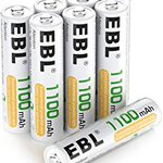 Image for the Tweet beginning: EBL AAA rechargeable batteries -