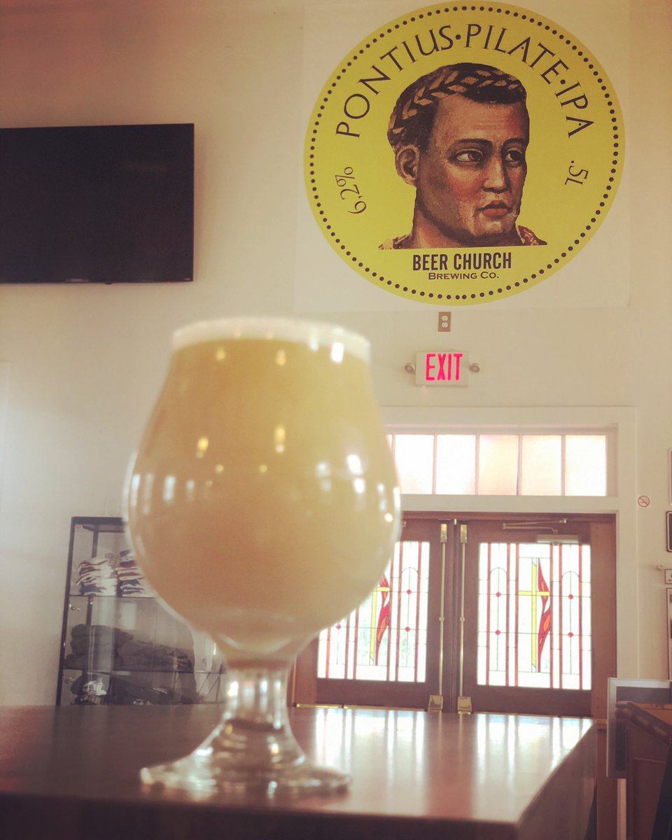 SPECIAL EDITION PILATE ALERT:  Our single hopped PONTIUS PILATE educational trilogy series taps into BELMA HOPS today, evincing strawberries and cream.   #beerchurch #newbuffalo #pontiuspilate #neipa #singlehopseries #belmahops #michigancraftbeer