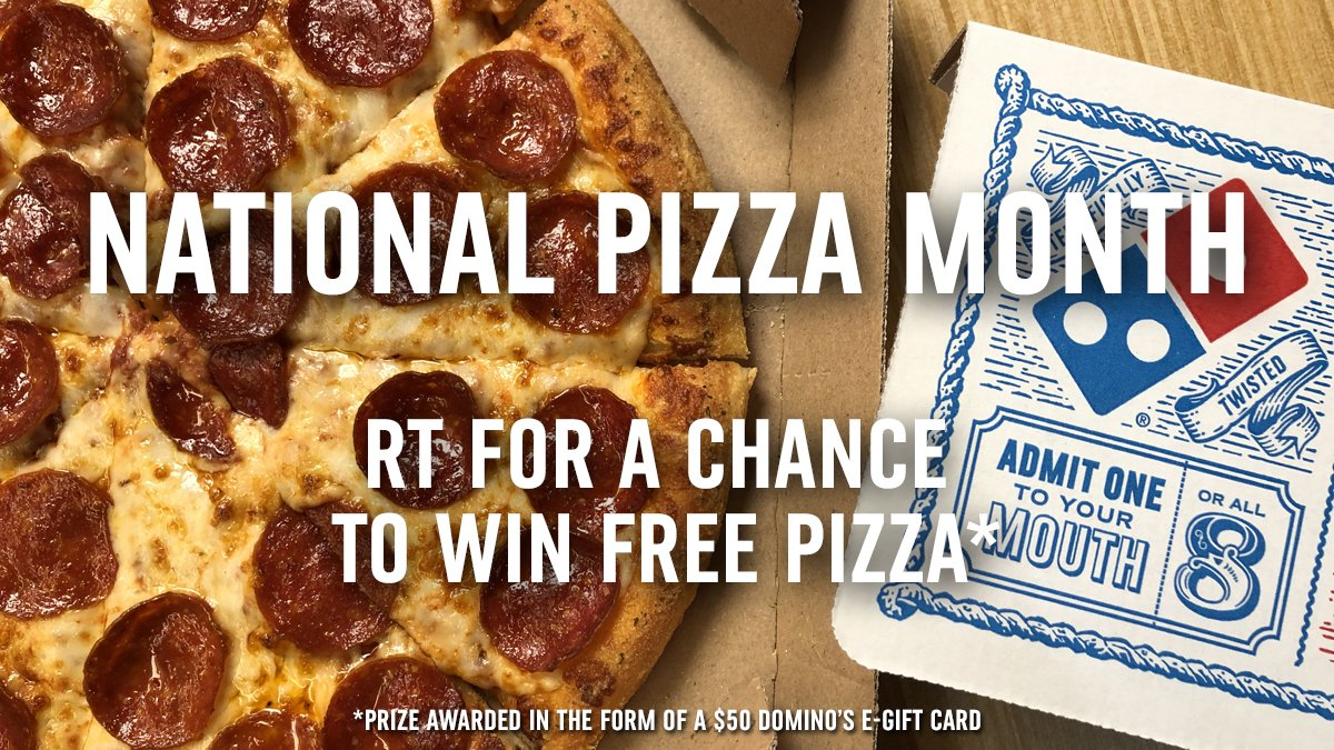 Scary movie nights call for FREE PIZZA. 🍕📺  RT for a chance to #WinDominosPizza in honor of #NationalPizzaMonth: