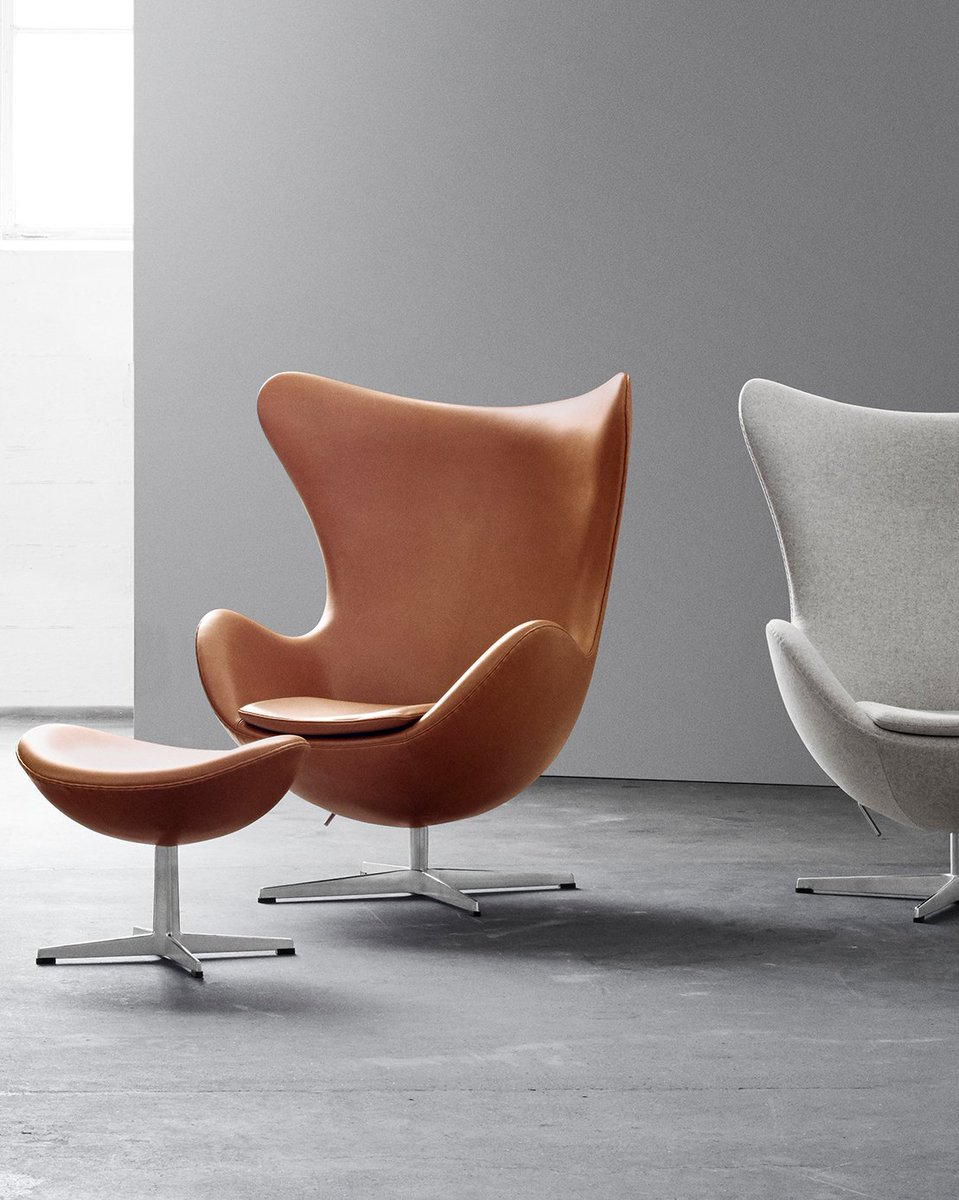Purchase the #FritzHansen Egg lounge chair by #ArneJacobsen & receive a matching footstool free, saving up to 30%. Choose from a very wide choice of fabrics or leathers –