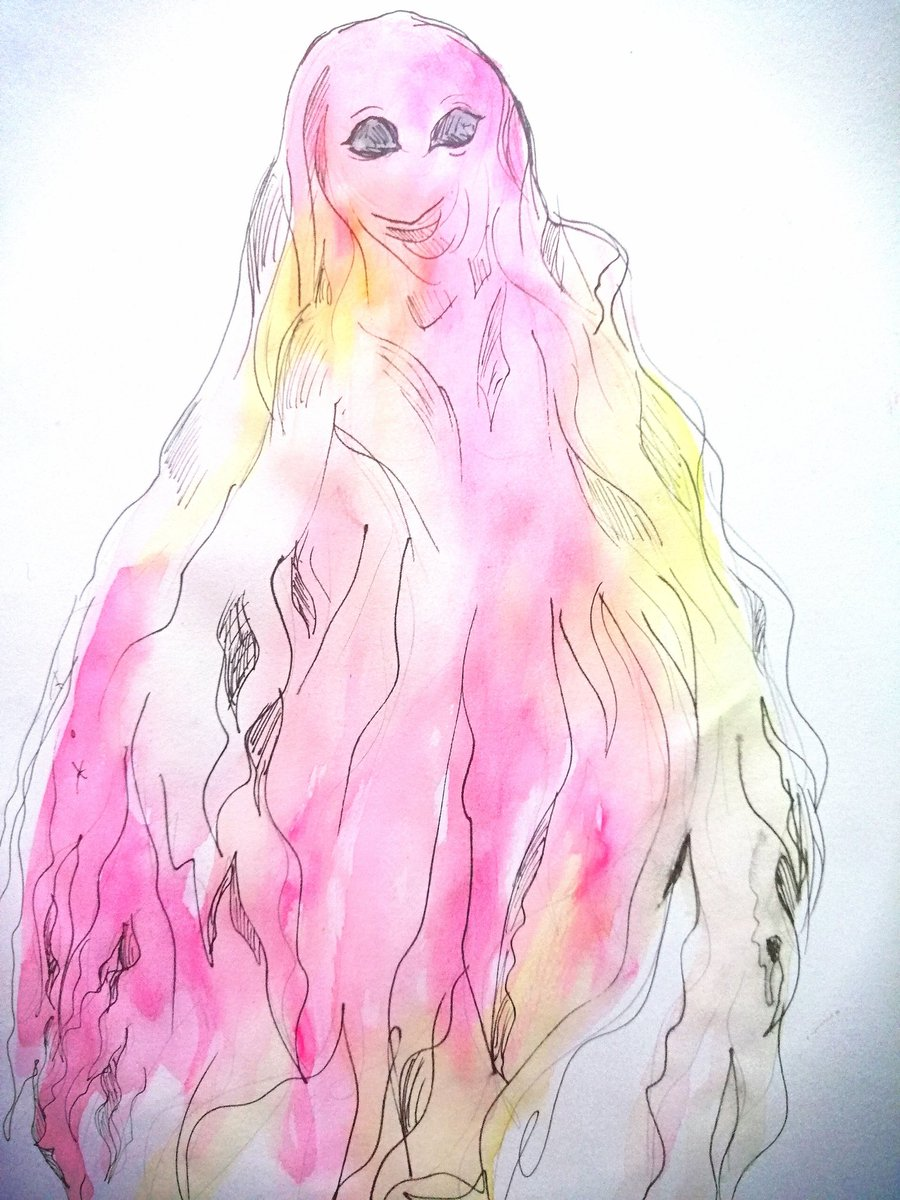 #Inktober with #inktoberday22 with prompt #ghost and while this ghost is more pastel it can still be horrifying when needed. But now it's just a pastel ghostie OK to retweet  #inktober2019 #inktoberprompt #ink #artsharepic.twitter.com/mKDCKLqwi1