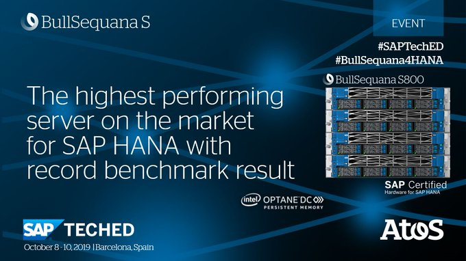 #BullSequana S800 is the highest-performing server on the market world-wide for #SAPHANA with...