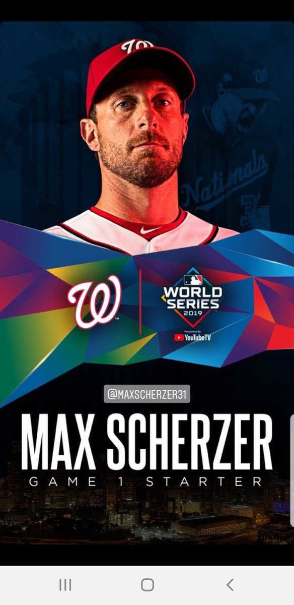 Seriously, how am I supposed to concentrate on work today when all I can think about is @Nationals World Series baseball #Scherzday #IBackTheNats #OnePursuit #STAYINTHEFIGHT