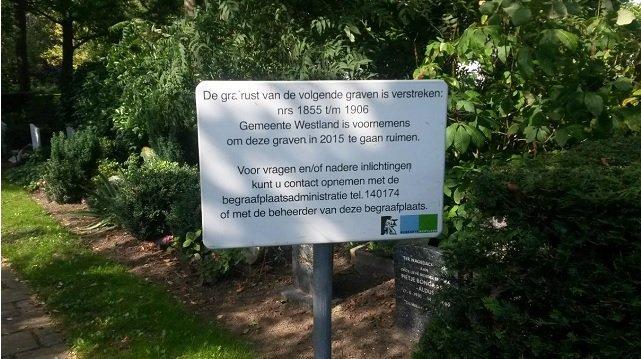 Westlandse begraafplaatsen beperkt toegankelijk door ruiming https://t.co/u8qHNyhxLv https://t.co/8MPboaM10B