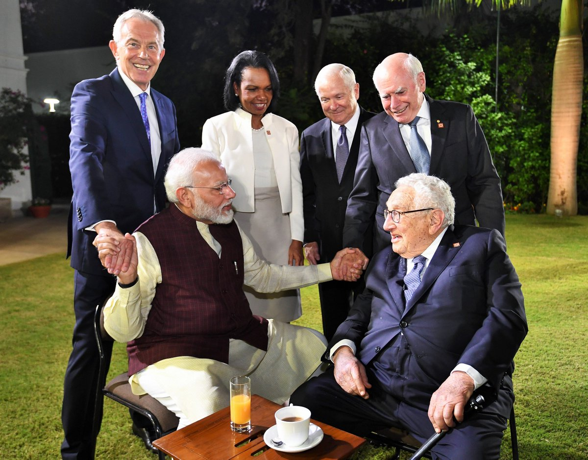 Moments with Mr. Kissinger, former Prime Ministers Tony Blair and John Howard, Ms. Condoleezza Rice and Mr. Robert Gates. Excellent discussions with these global thought leaders.