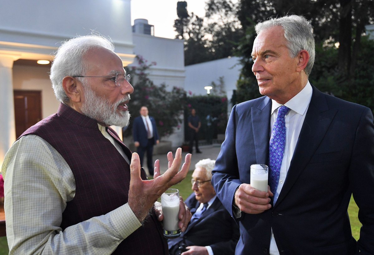Great discussions with former British PM Tony Blair. He has made a long lasting contribution to his nation and has insightful views on a wide range of global issues.
