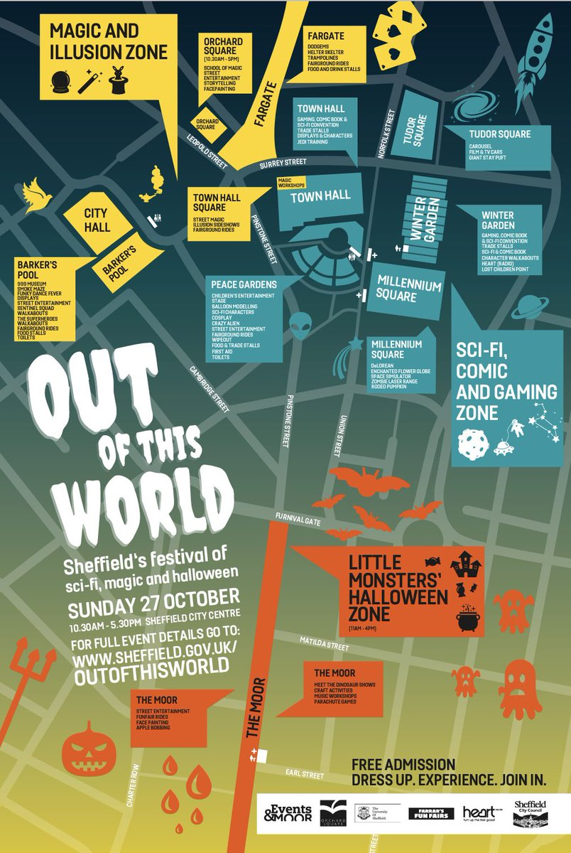 Out Of This World is on this Sunday across town. Free admission and loads going on.