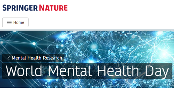 This year Springer Nature are supporting World Mental Health Day by providing free online access to some of their chapters and articles until the 7th November. If you are interested in knowing more please click here to access articles: springernature.com/gp/researchers… #wmhd2019