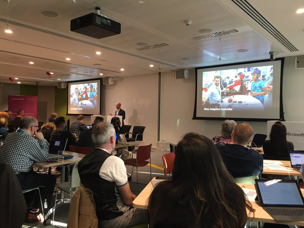 Inspiring session on Accessibility @microsofteduk from @hminto #MSBootcamp