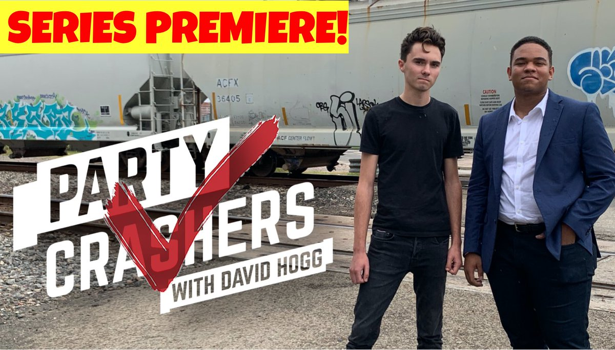 #PartyCrashers premiere episode is here! David Hogg @davidhogg111  meets up with 17 y/o @MarcelMcClinton who's running for Houston City Council!  Please check it out and subscribe to our YouTube channel.