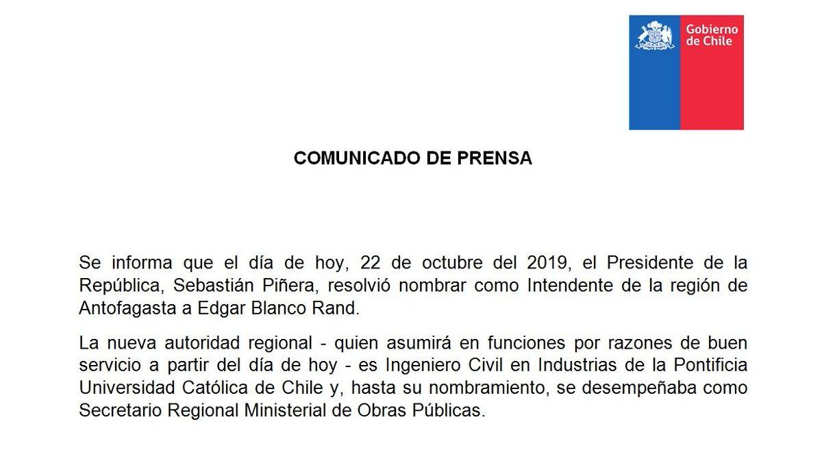 """Cagadas Y Peos Videos Porno min. interior chile on twitter: """"comunicado - el presidente"""