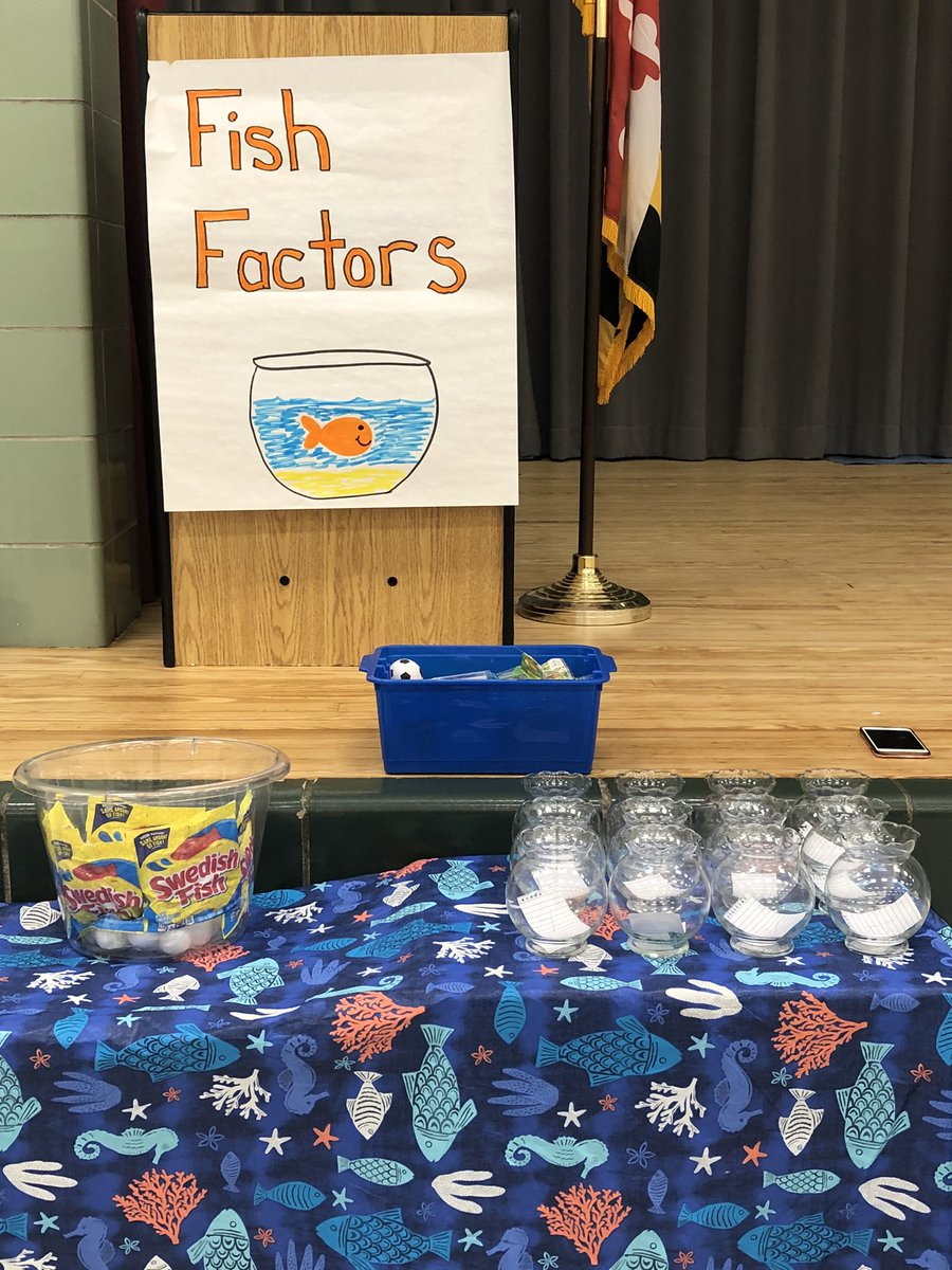 Math night at @flesbcps! Who's ready for some fish factors! @mwebsterbcps @teachgiff