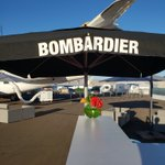 Image for the Tweet beginning: Gaia working the Bombardier exhibit