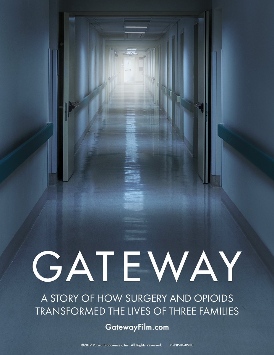 As a spokesperson for #ChoicesMatter I'm excited to share the new documentary, GATEWAY, which provides an emotional look at how surgery & opioids transformed three families. Visit http://gatewayfilm.com to watch the film & learn more about non-opioid options #gatewayfilm