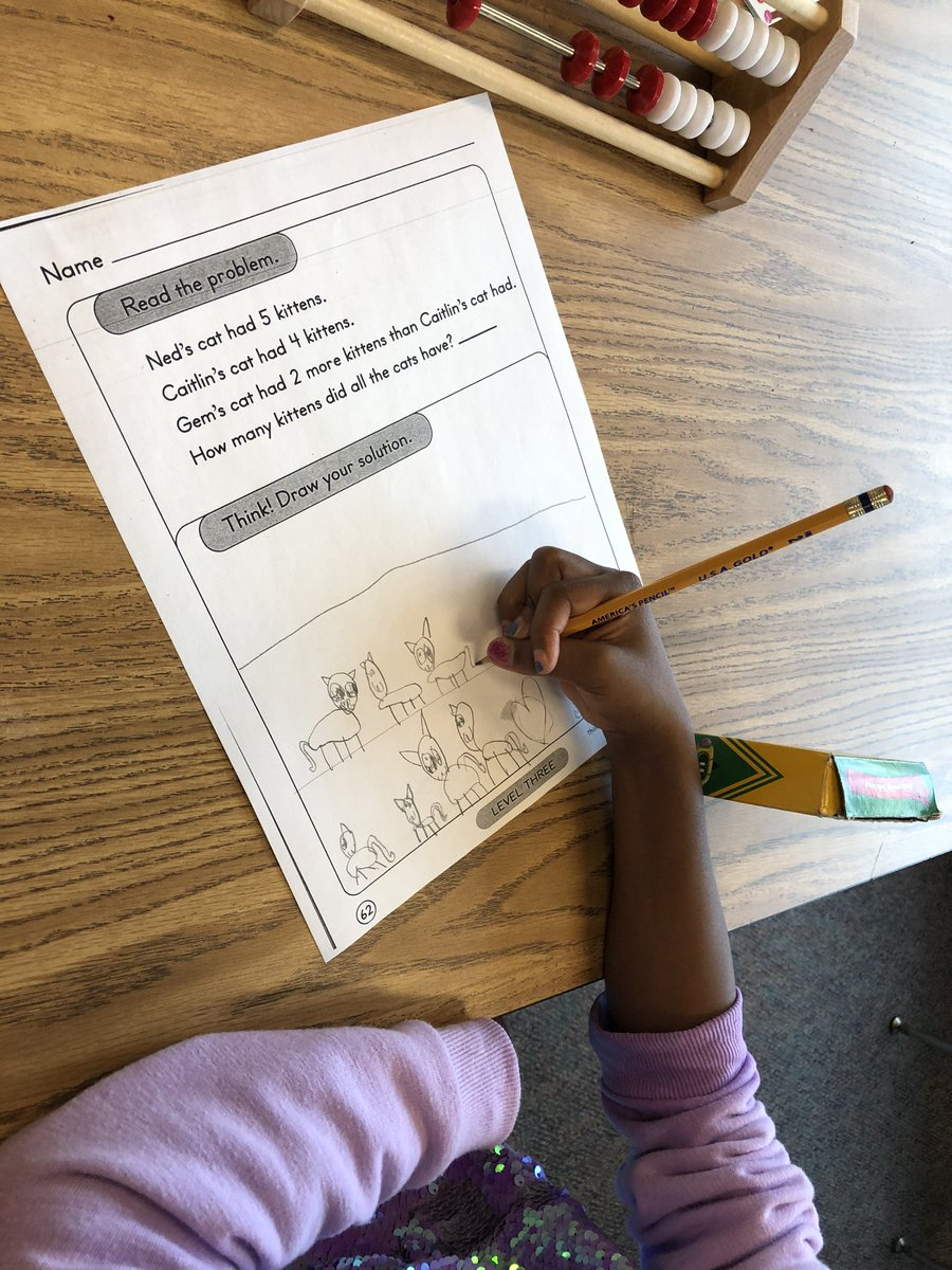 Savvy 1st graders can solve multi-step story problems by drawing out their solutions <a target='_blank' href='http://search.twitter.com/search?q=HFBtweets'><a target='_blank' href='https://twitter.com/hashtag/HFBtweets?src=hash'>#HFBtweets</a></a> <a target='_blank' href='http://twitter.com/APSGifted'>@APSGifted</a> <a target='_blank' href='https://t.co/FWYdsEcLpC'>https://t.co/FWYdsEcLpC</a>