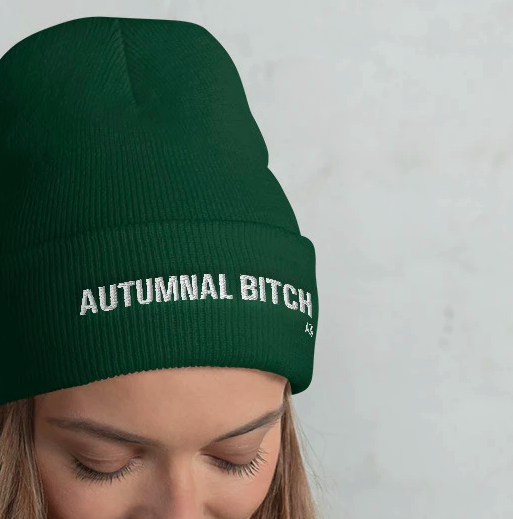 Take 10% off the 'Autumnal Bitch' beanie and everything in our store with code OCTOBER: reductr.es/2OMZzKt