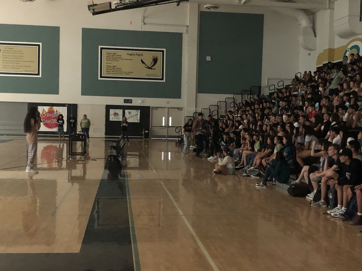 """""""This has never been about me, it's about us!"""" Says @xiuhtezcatl to the Senior Class of @olympianasb #suhsd"""
