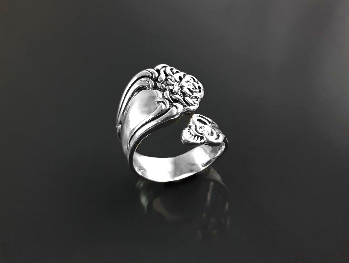 Women Fashion 925 Sterling Silver unique Bague fleurs argent handmade Ring Boutique