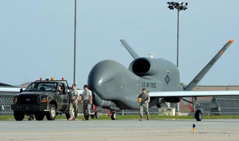 The size of a Military Drone